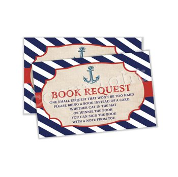 Ahoy! Baby on Board Matching book request insert BR0206