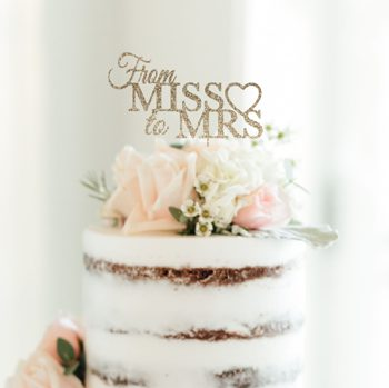 Miss to Mrs. cake toppers set of 12 CT