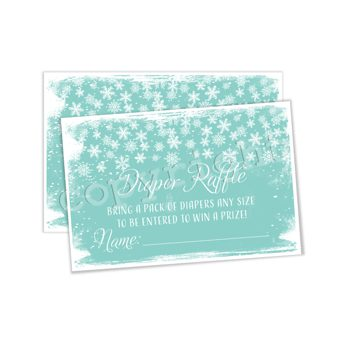 Baby it's Cold Outside (teal)  Matching diaper raffle insert DR0792