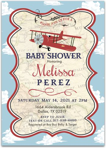 Arriving Soon Baby shower invitation for boy NV2186