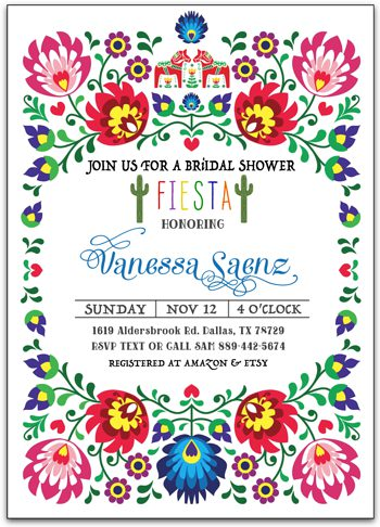Bridal Fiesta Bridal shower invitation  NV2734