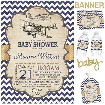 Little Pilot Baby shower party pack for boy PK2127