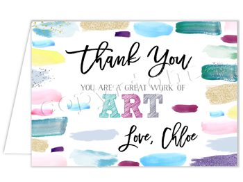 Artist Dreams Matching thank you card TN1834