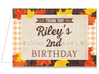 Rustic Celebration Matching thank you card TN2224