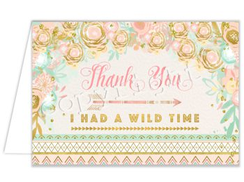 Wild One (Classic) Matching thank you card TN2237