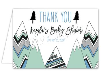 Adventure Awaits Matching thank you card TN9043