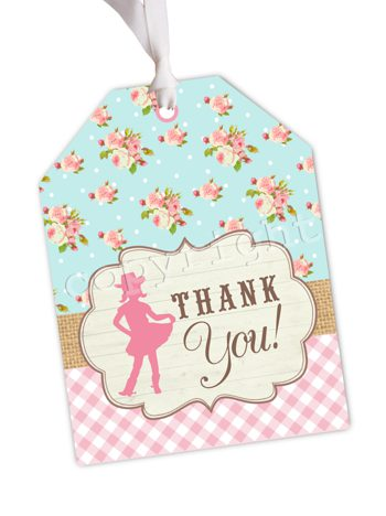 Chic Cowgirl Matching favor tag TT0777