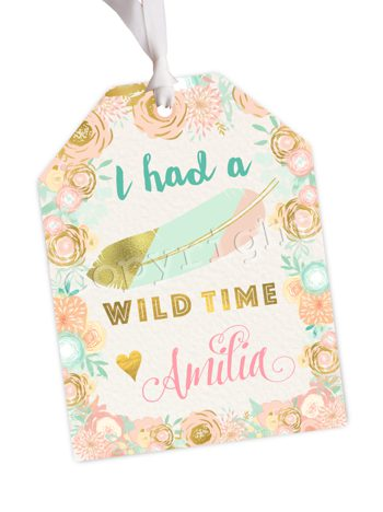 Wild One (Classic) Matching favor tag TT2237