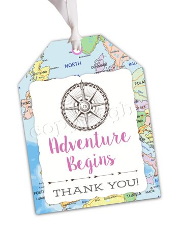 Adventure Begins (Classic) Matching favor tag TT2990