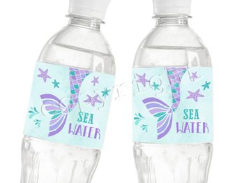 Mermaid Cove Matching water bottle label WL0746