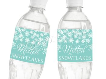 Baby it's Cold Outside (teal)  Matching water bottle label WL0792