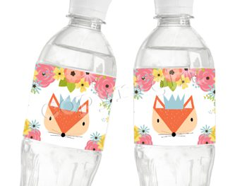 Woodland Foxy Matching water bottle label WL7408
