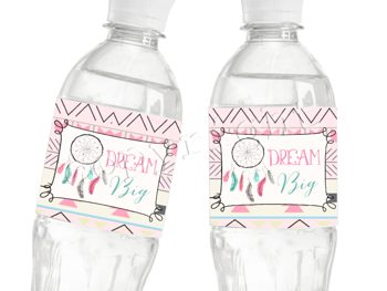 Dream Big Little One Matching water bottle label WL8751